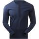 Bergans Henley Wool Maglietta a maniche lunghe Uomo blu
